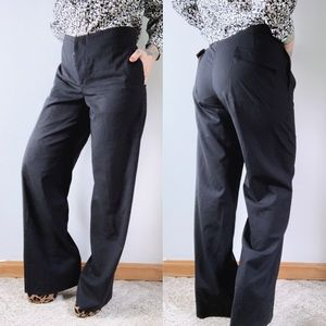 HELMUT LANG Super 130s Wool Wide Leg Trouser